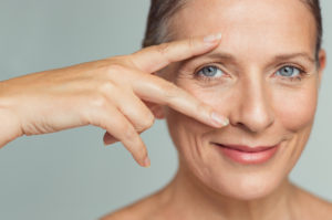 mature women eyebrows